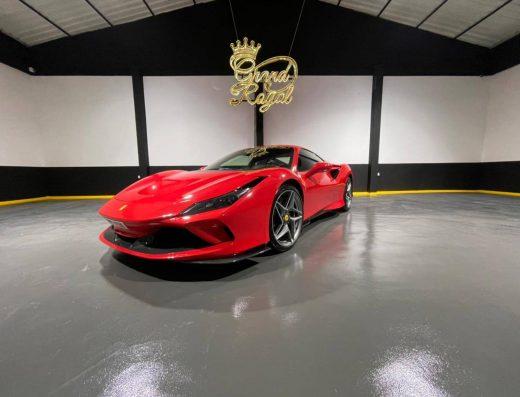 Rent Ferrari F8 Tributo – 2020 the ever hot rental car Ferrari Dubai, Luxury Sport Hot Red Color to Book it from Grand Royal