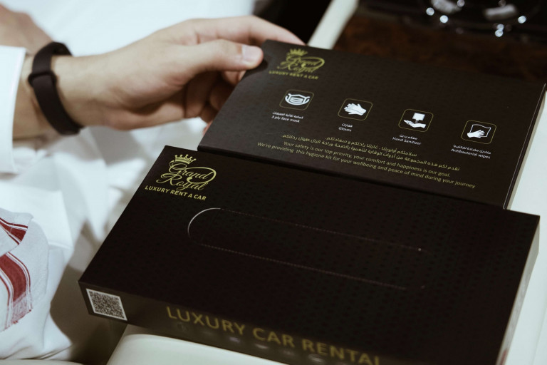 Rent a Car in Dubai during COVID-19 Pandemic from Grand Royal 100% Sanitized luxury fleet with GR Hygiene Kit for your safety 24/7 Rental Care
